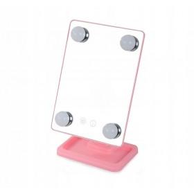 Kozmetické LED zrkadlo sa žiarovkami Ružové