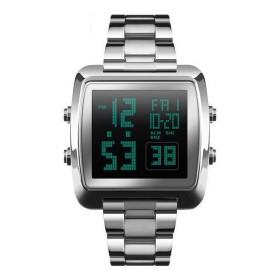 Skmei 1369 celokovové digitálne hodinky Stellar Strieborné