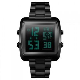 Skmei 1369 celokovové digitálne hodinky Stellar Čierne