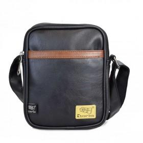 Three Box pánska crossbody taška Slim Pocket Čierna