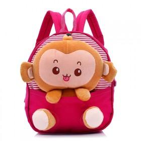 Detský batôžtek s plyšákom opičkou Ružový