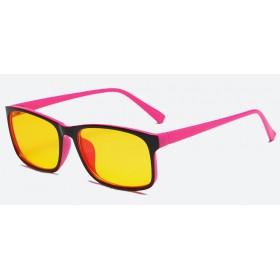 Okuliare s filtrom modrého svetla bez dioptrii KWE16- Ružové