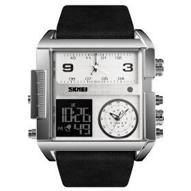 SKMEI 1391 duálne hodinky 3 times Silver Čierne