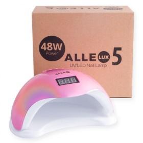 ALLELUX 5 UV LED lampa na nechty 48W Rainbow pink