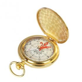 Survival retro vreckový kompas Zlatý