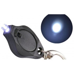 Survival prívesok na kľúče Led baterka Čierna