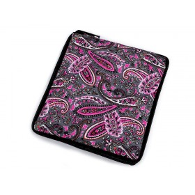 Pevná skladacia nákupná taška so zipsom Sivá paisley