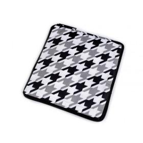 Pevná skladacia nákupná taška so zipsom Biela-čierna