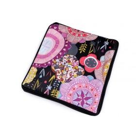 Pevná skladacia nákupná taška so zipsom Okrúhle kvetmi