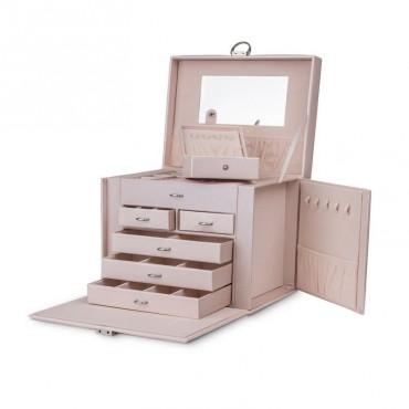 Stenberg Luxusný kufrík na šperky ETUI púdrový