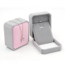 Darčeková krabička Šedo-ružový zamat 7 × 7 x 4 cm
