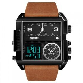 SKMEI 1391 duálny hodinky 3 times Black Hnedé