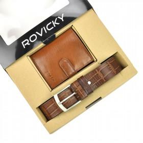 Rovicky pánska darčeková sada peňaženka a opasok Roque
