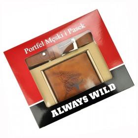 Wild pánska darčeková sada s opaskom Buffalo Khaki