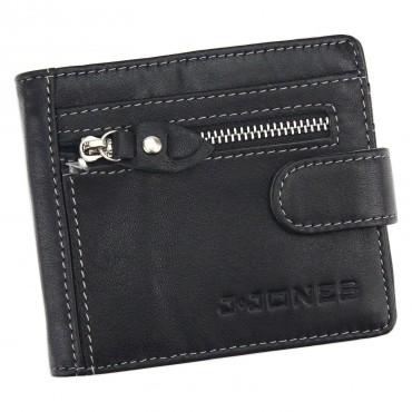 J. Jones pánska kožená peňaženka Dolarovka Čierna