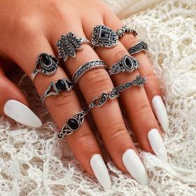 Sada Bohém prsteňov Antique 11ks Anfisa