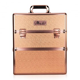 Mollylac dvojposchodový kozmetický kufor XXL Rose Golden