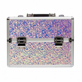 DIAMOND kozmetický kufor XL Holo Pink