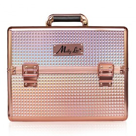 MollyLac kozmetický kufor XL na laky Rosegold
