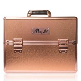 MollyLac kozmetický kufor XL na laky Rose golden