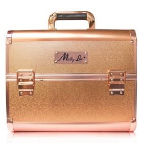 MollyLac kozmetický kufrík L Rose golden