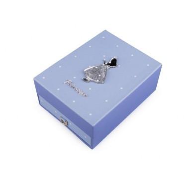 Šperkovnica na šperky Princess Modrá
