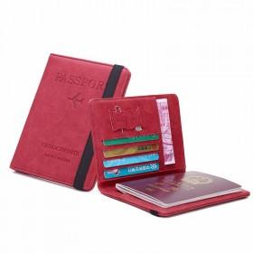 Puzdro na pas RFID Travel wallet Červená