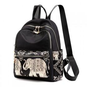 Chibao Dámsky stredný batoh Indický slon Čierny