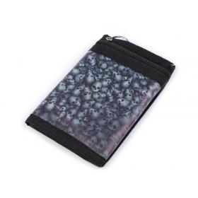 Chlapčenská látková peňaženka s retiazkou Lebky