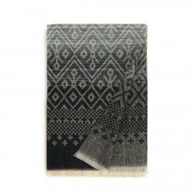 Unisex šál Gradient aj geometria Čierny